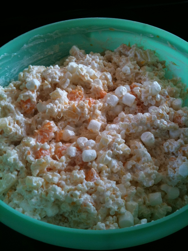 "Nana's Recipe Box: A Cini De Pepe Salad / ""Frog-Eye Salad"""