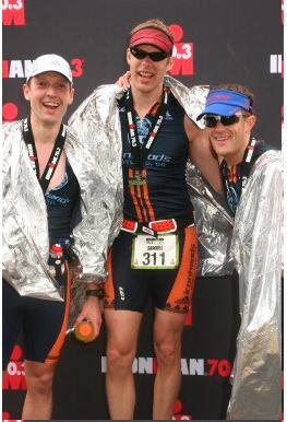 Finish at Boise Ironman 70.3