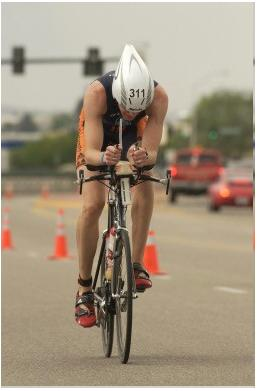 Boise Ironman 70.3 Bike Finish