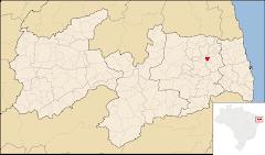 Veja a Localização do Município de Pilõezinhos no Mapa da Paraíba.