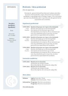 modelos de curriculum vitae para descargar en word