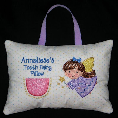 Stitched By Janay: Tooth Fairy Pillow!