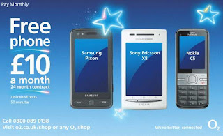 Sony Ericsson Xperia X8 smartphone at O2 UK for free