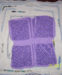 chaleco tejido en telar y crochet.