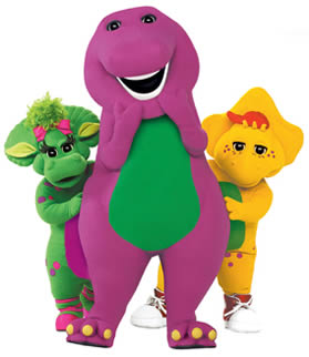 and their counterparts sexy barney and friends