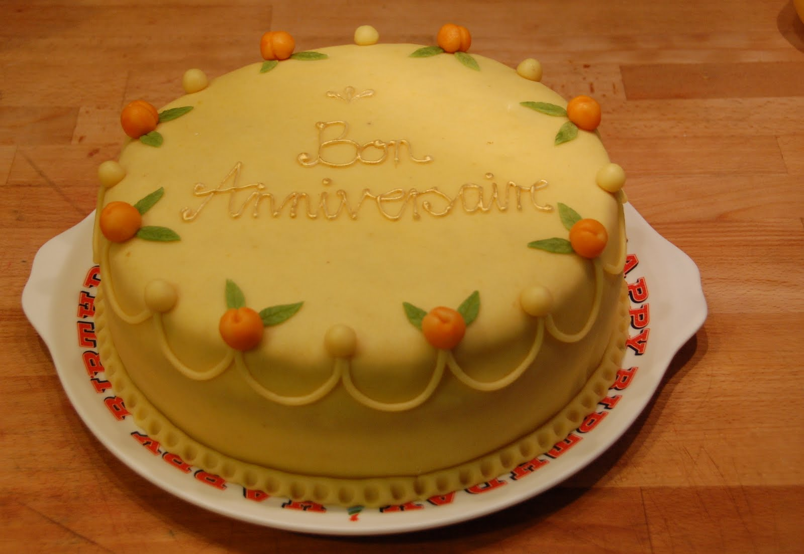One Taste Rule Marzipan Birthday Cake
