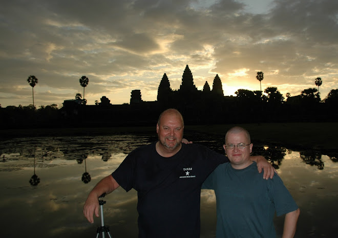 Kilted-Arab and Green Baron at Angkor Wat