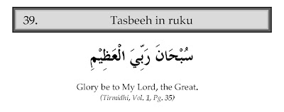 tasbeeh in ruku and tasmee with english translation