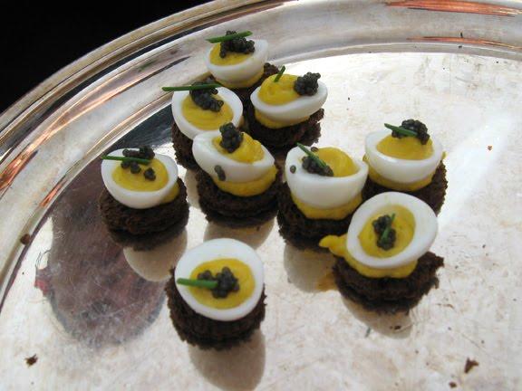 Deviled Quail Eggs Caviar #1
