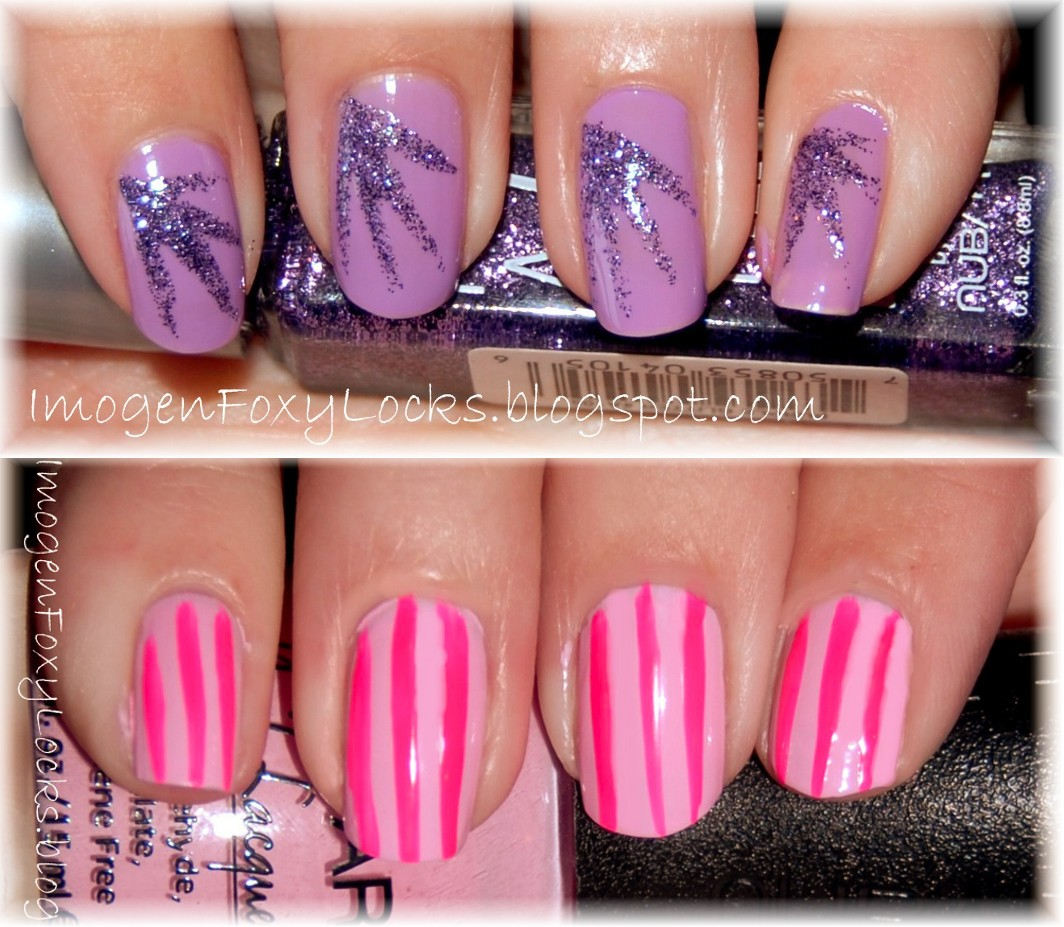 Imogen Foxy Locks Violet Sparkle Nails And Candy Nails