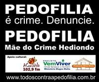 PEDOFILIA É CRIME.