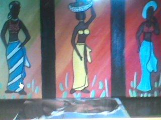 Pintura a Óleo de mulheres africanas