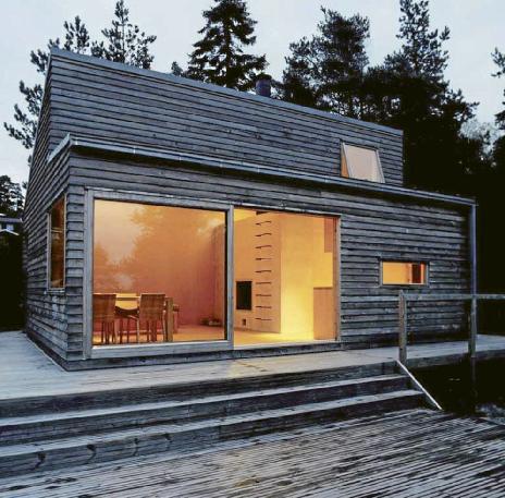 Scandinavian retreat prefab woody 35 for Scandinavian modern house