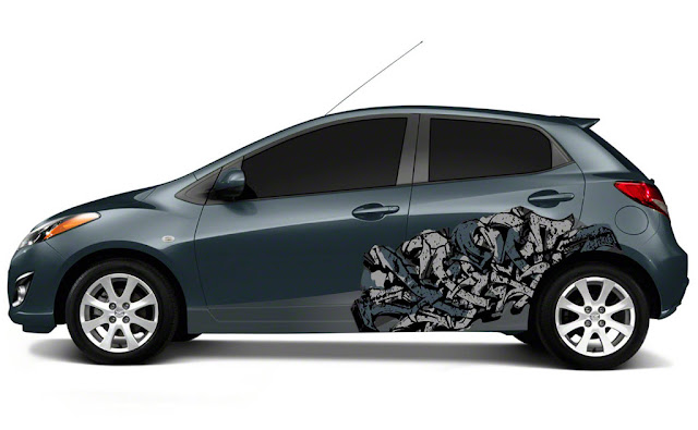 gambar modifikatin mazda2 Mazda 2 With a Modification of the Airbrush Color 2011 Mazda2 Wallpaper