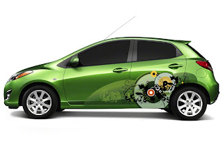 gambar modifikatin mazda2 Mazda 2 With a Modification of the Airbrush Color Mazda2 Color Edition