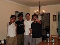 con Segundo, David y Gustavo