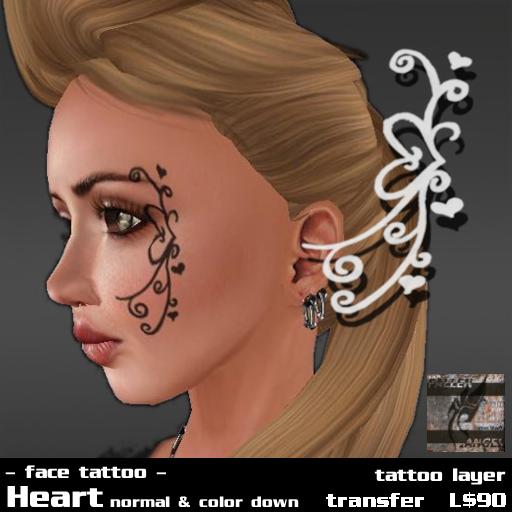 Face tattoo by FALLEN ANGEL 3 types of tattoo Flower Butterfly