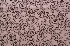 pink & brown trellis