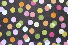 brown & pink polka dot