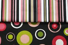 black & pink polka dot & stripes
