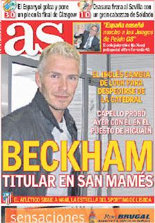 David Beckham Blonde Hair