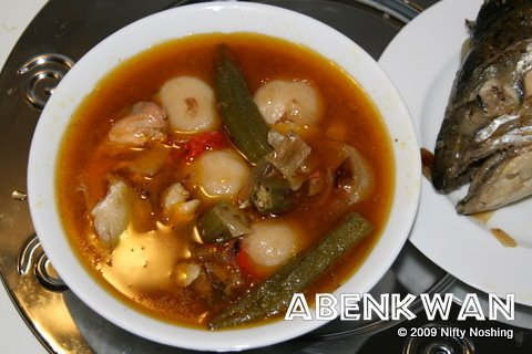 Abenkwan: Ghanaian palm nut soup with foufou recipe