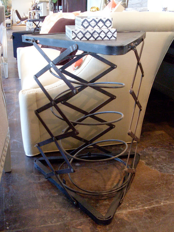 Great industrial table - love the triangular shape. title=