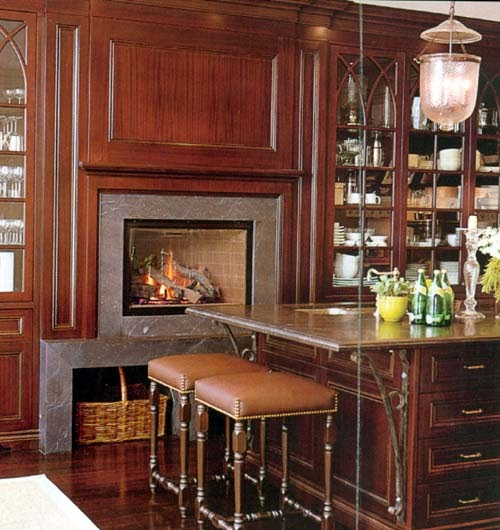 My Notting Hill: Fireplaces In Kitchens