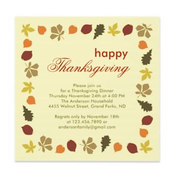 Thanksgiving Potluck Invitation Wording - klejonka