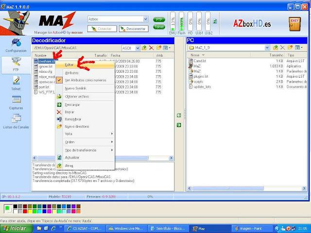 -028 Como configurar CS no Azbox Elite via Mbox.