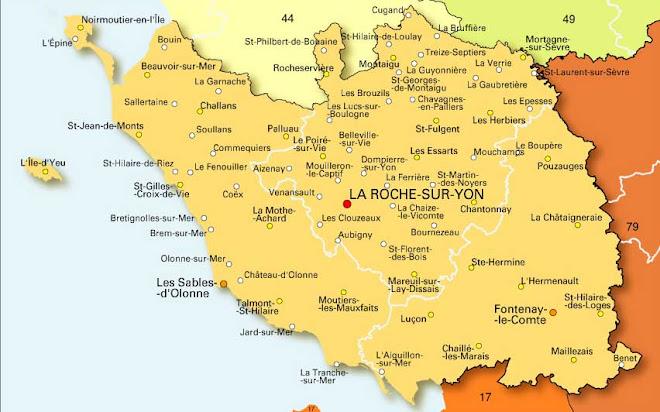 La Vendée et ses départements voisins