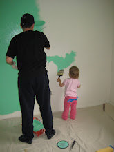 Grace & Daddy Painting the Boys' Room - June 09