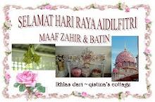 Salam AidilFitri dari Azie (Qistina Cottage)
