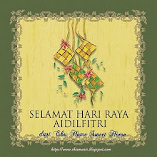 Salam Aidil Fitri Dari K Shima (E-Bu Sweet Home)