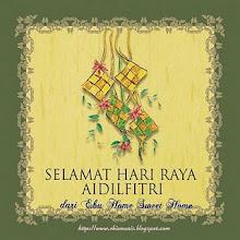 Salam Aidil Fitri Dari K Shima (E-Bu Sweet Home)