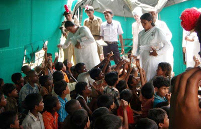 Bihar Flood Relief Work by Brahma Kumaris & GHRC