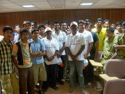 Anand and his team with IITians at Chennai