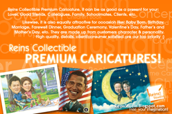 REINS COLLECTIBLE PREMIUM CARICATURES