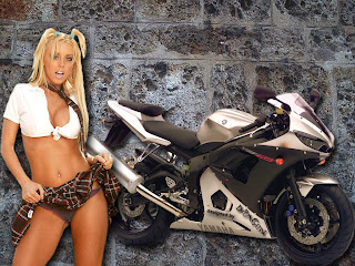 Free Sexy Girls Hot Motorcycle Wallpaper