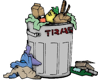 texturized trash can clip art