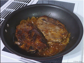 pan fried pork steak