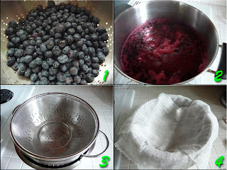 preparing blueberry syrup