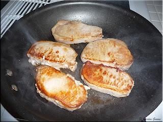 browning the pork loin chop