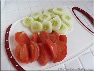 marketmore cucumber and brandywine tomato