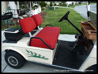 golf cart with seats reupholstered