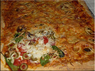 homemade pizza fresh from the oven