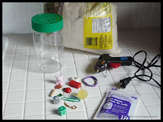 recycled materials for I Spy Jar