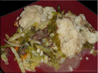 beef and cabbage with dumplings
