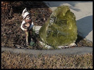 garden gnome gathering water