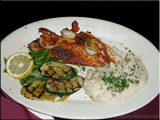 snapper with shrimp